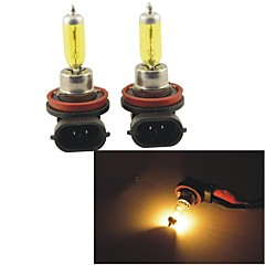 Carking™ KOBO H11 12V 100W 3000K 550LM Yellow Light Car Halogen Headlight(2 CPS)