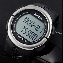 Men's LCD Multifunctional Digital Pedometer 3D Rubber Strap Sports Wrist Watch Cool Watch Unique Watch