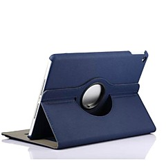 High Quality Solid Color PU Leather Spin Full Body Case for iPad Air (Assorted Colors)