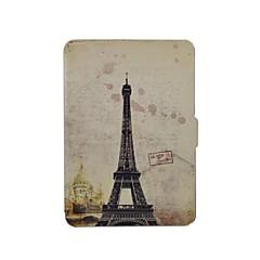 blyg björn ™ Eiffeltornet läder fallet för amazon nya Kindle 2014 pekskärm (tända 7th)