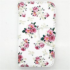 Peony Pattern PU Leather Full Body Case with Card Slot and Stand for iPhone 4/4S