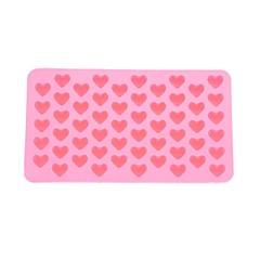 55 슬롯 심장 모양의 실리콘 케이크 비스킷 베이킹 금형 트레이 금형 목록 bakeware (핑크)
