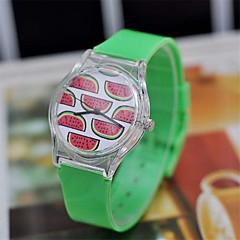 여성의 달콤한 수박 패턴 패션 시계 플라스틱 원형 높은 품질의 시계를 볼