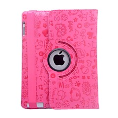 Lureme® Fashion Little Witch Cartoon Rotatable PU Leather Case for iPad 3/4