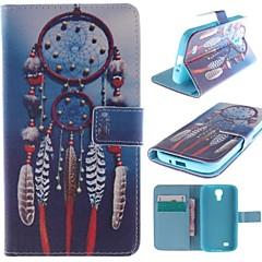 Traumfänger-Muster PU-Leder Ganzkörper-Fall mit Standplatz und Kartensteckplatz für Samsung-Galaxie s4 / i9500