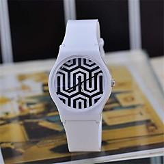kvinners magi farge gjennomsiktig plast watch sirkulær høy kvalitet japansk urverk