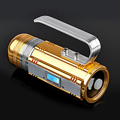 TanLu T350 Rechargeable 3-Mode 1x Cree R5 LED Flashlight(500LM, 4x18650, Gold)