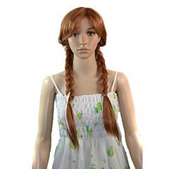 vrouwen cosplay cartoon lange anna prinses synthetische pruik hittebestendige fiber goedkope party pruik hair
