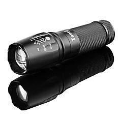 tanlu 878 rechargeable 5 modes 1x cree l2 zoom lampe led (800-1000lm, 1x26650, noir)