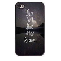 Stars Can Shine Without Darkness Design Aluminum Case for iPhone 4/4S