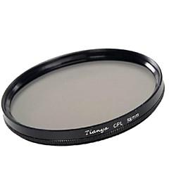 tianya® 58mm cpl מסנן מקטב חוזר Canon 650d 700d 600D 550D 500D 60D 18-55mm העדשה