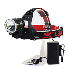 Richuang RC-0188C Rechargeable 3-Mode 1x Cree XM-L T6 10W Headlamp(800LM, 4x18650, Black)