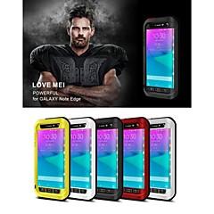 Voor Samsung Galaxy Note Waterbestendig / Schokbestendig hoesje Volledige behuizing hoesje Effen kleur Metaal Samsung Note Edge