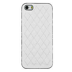 Stereoscopic Diamond PU Leather And Silver Plating PC Two in One Back Cover Case for iPhone 5/5S (Assorted Colors)