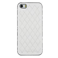 아이폰 5 / 5S에 대해 하나의 백 커버 케이스에 입체 다이아몬드 PU 가죽과 실버 도금 PC 두 (모듬 색상)