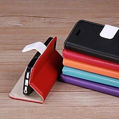 Côr Sólida - iPhone 5/iPhone 5S - Cobertura de Trás ( Vermelho/Preto/Azul/Rosa/Roxo/Laranja , Pele PU )