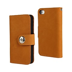 Genuine Matte Cowhide PU Leather Flip Cover Wallet Card Slot Case with Stand for iPhone 4/4S