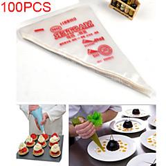 100pcs tek buzlanma boru kek pasta ucu kek dekorasyon çanta aracı (* 28cm 17)