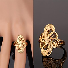 U7® Fancy Hollow Ring 18K Real Gold Plated Big Ring For Women Fashion Jewelry for Women High Quality