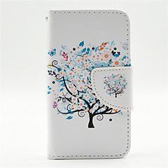 Colorful Blooms Pattern PU Leather Full Body Case with Card Slot and Stand for iPhone 4/4S