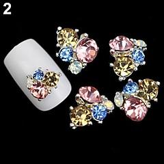 Biżuteria na paznokcie/Brokat - Palec - Zwierzę/Ślub - Metal - 4*3*1 - 5PCS