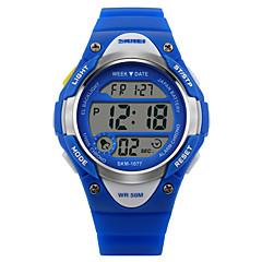 SKMEI Παιδικά Καθημερινό Ρολόι Ψηφιακό ρολόι Χαλαζίας Ψηφιακό Γιαπωνέζικο Quartz Αθλητικό Ρολόι καουτσούκ Μπάντα Μαύρο Μπλε ΡοζΜαύρο Μπλε