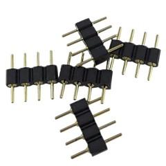(5pcs) de 4 pines conector macho para rgb 5050/3528 luz de tira llevada conectar