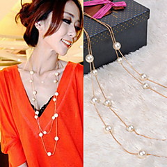 Imitation Pearl Necklace Beads Necklaces Party/Daily/Casual 1pc PE01