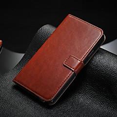 For Samsung Galaxy Note Kortholder Med stativ Flip Etui Heldækkende Etui Helfarve Kunstlæder for Samsung Note 5 Note 4 Note 3