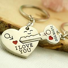 romantisk bryllup nøkkelring nøkkelring for elskeren Valentinsdag (ett par)