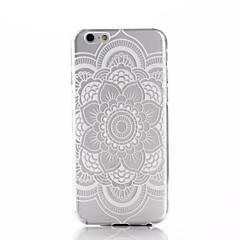 Weiß Mandala-Blumenmuster ultradünnen TPU weiche rückseitige Abdeckung Fall für iphone 6s 6 Plus