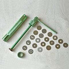 20discs sugarcraft työkalu sokeri tahna ekstruuderin savi Fimo veneet ase kakku veistos sisustus