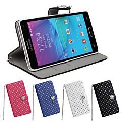 Samsung Galaxy Nota 4 - Carcase integrale/Săculețe/Carcase cu Suport - Telefon mobil Samsung - Culoare solidă/Model Grilă/Model special/Aspect Diamant