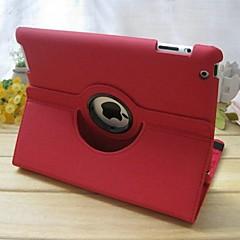 Apfel iPad 2/iPad 4/iPad 3 - 360⁰ Cases ( PU Leder , Rot/Blau ) - Einfarbig