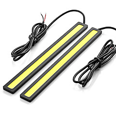 2pcs 14cm 7W 600-700LM Daytime Running light White Color High Power COB DRL Waterproof IP68 Daylight(12V)