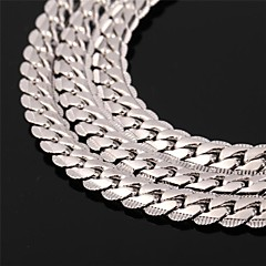 Men's Women's Couple's Choker Necklaces Chain Necklaces Vintage Necklaces Platinum Plated Gold Plated Gold Filled Alloy FashionSilver