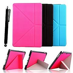 Tinta unita - Mela iPad mini/mini iPad 2/mini iPad 3 - DI Cuoio - Nero/Blu/Rosa