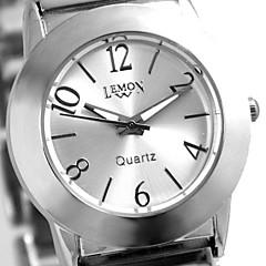Woman's Ladies Round Quartz Bracelet Watch (Assorted Colors)