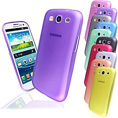 BIG D 0.3mm PP Matte Back Case for Samsung Galaxy S3 I9300(Assorted Colors)