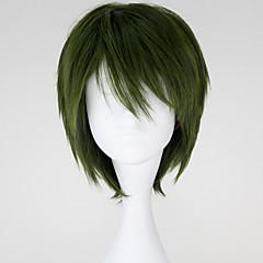 코스프레 가발 코스프레 Midorima Shintaro 녹색 쇼트 에니메이션 코스프레 가발 32 CM 열 저항 섬유 남성