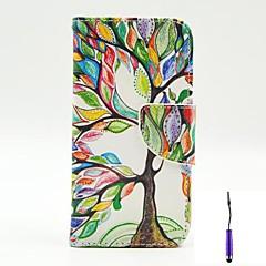 For LG etui Kortholder Pung Med stativ Flip Etui Heldækkende Etui Træ Hårdt Kunstlæder for LG LG G3 LG G3 Beat / G3 Mini LG L90 LG L70