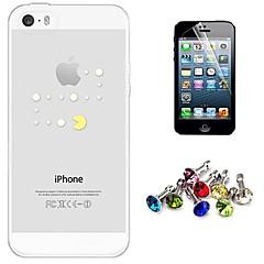 Desenho Animado/Design Especial/Transparente/Anime/Refrigere palavra / frase/Holding / come Apple Logo - iPhone 5/iPhone 5S - Cobertura de Trás (