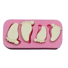 Baby Feet Silicone Mold Fondant Chocolate Cake Decorating Tools Forma De Silicone Para Bolo