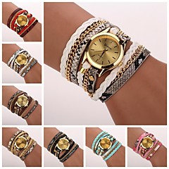 Women's  Leopard Grain Woven  Luxury Brand Quartz Wristwatch Watches C&D-120