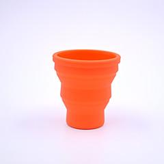 ulkona sisäänvedettävä silikoni cup 200ml (väri random)