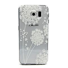 padrão de dente de leão pintado telefone escudo protetor TPU fina em relevo para Samsung Galaxy S6