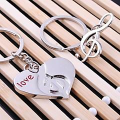 Serce muzyka ślub kluczem do kluczy ring do dnia lover Walentynki (jedna para)
