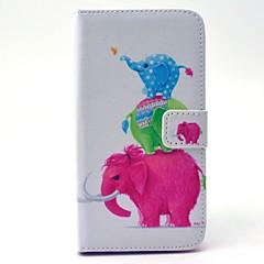 Voor Samsung Galaxy hoesje Portemonnee / Kaarthouder / met standaard hoesje Volledige behuizing hoesje Olifant Hard PU-leer SamsungS6