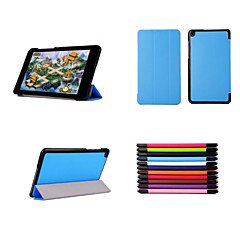 8.9 Inch Three Folds Pattern High Quality PU Leather Case for ASUS T90 Chi(Assorted Colors)