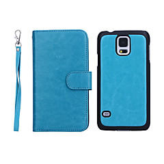 New Arrival Genuine Leather Wallet Cases with 9 Cards Slots for Samsung  Galaxy S5 I9600 (Assorted Colors)